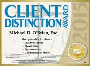 Portland Insolvency Lawyers with Client Distinction Award