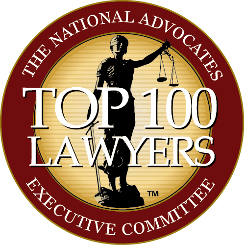 top 100 lawyers badge